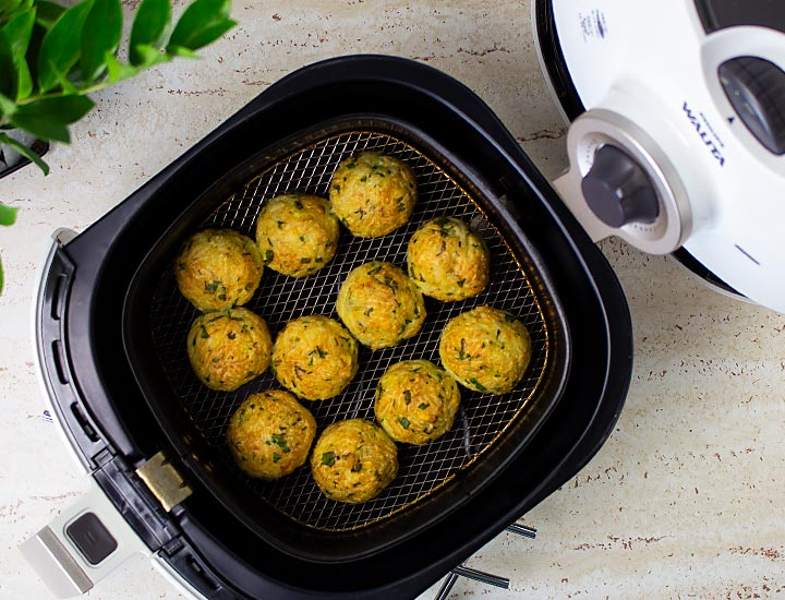 receita frita no centro da air fryer